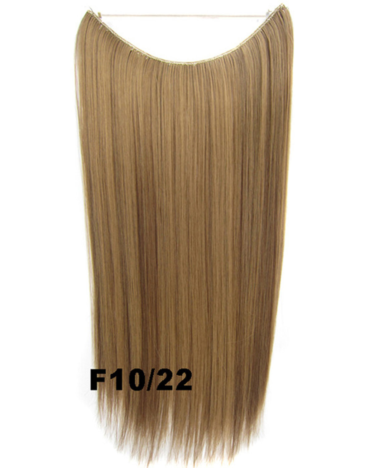 22 Inch Popular Straight and Long Invisible One Piece Miracle Wire Flip in Synthetic Hair Extension F10/22