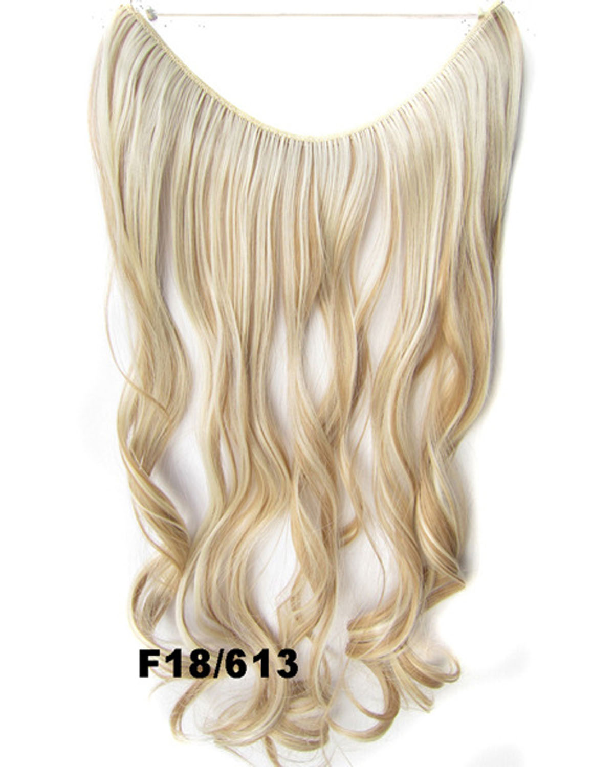 22 Inch Salable Curly and Long One Piece Miracle Wire Flip in Synthetic Hair ExtensionF18/613