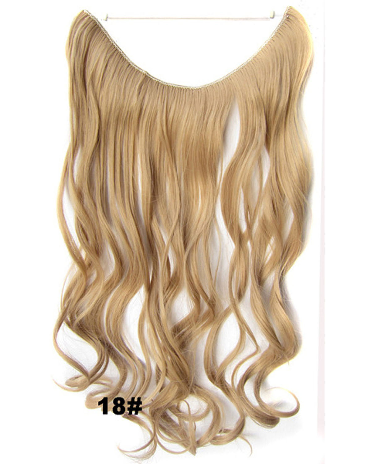 22 Inch Silky Curly and Long Miracle One Piece Miracle Wire Flip in Synthetic Hair Extension 18#