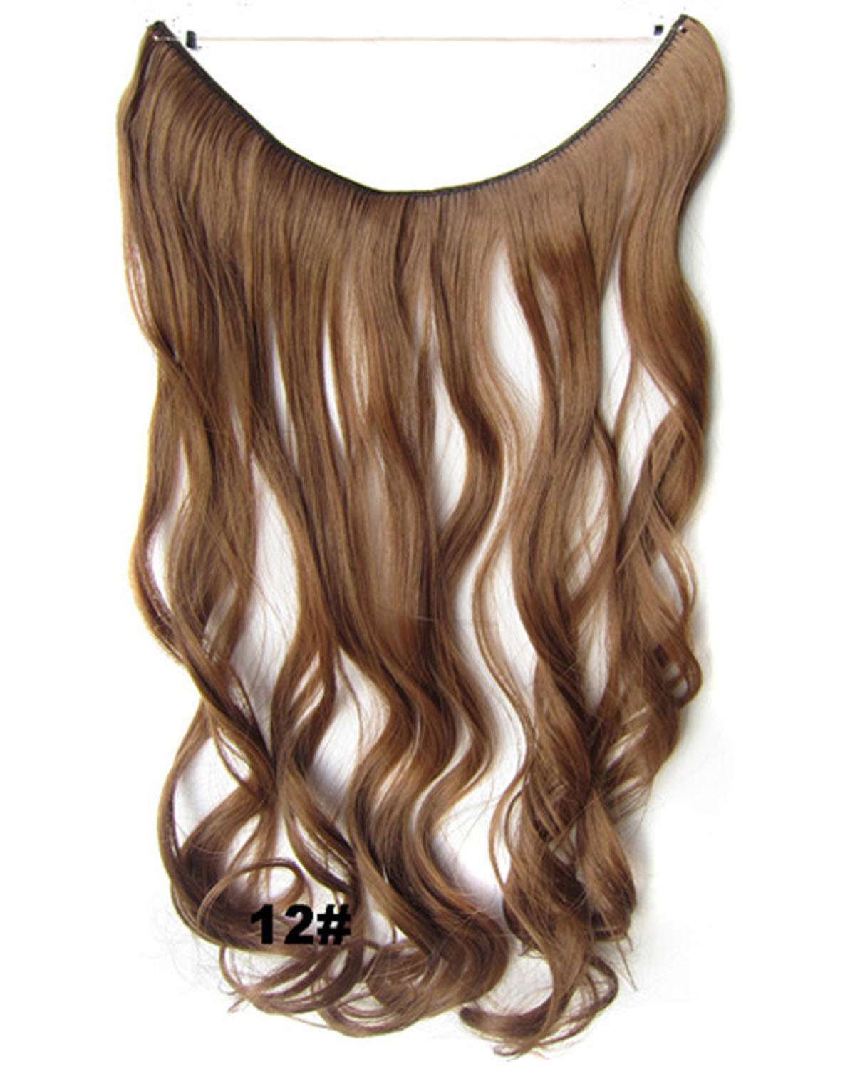 22 Inch Stylish Curly and Long One Piece Miracle Wire Flip in Synthetic Hair Extension12#