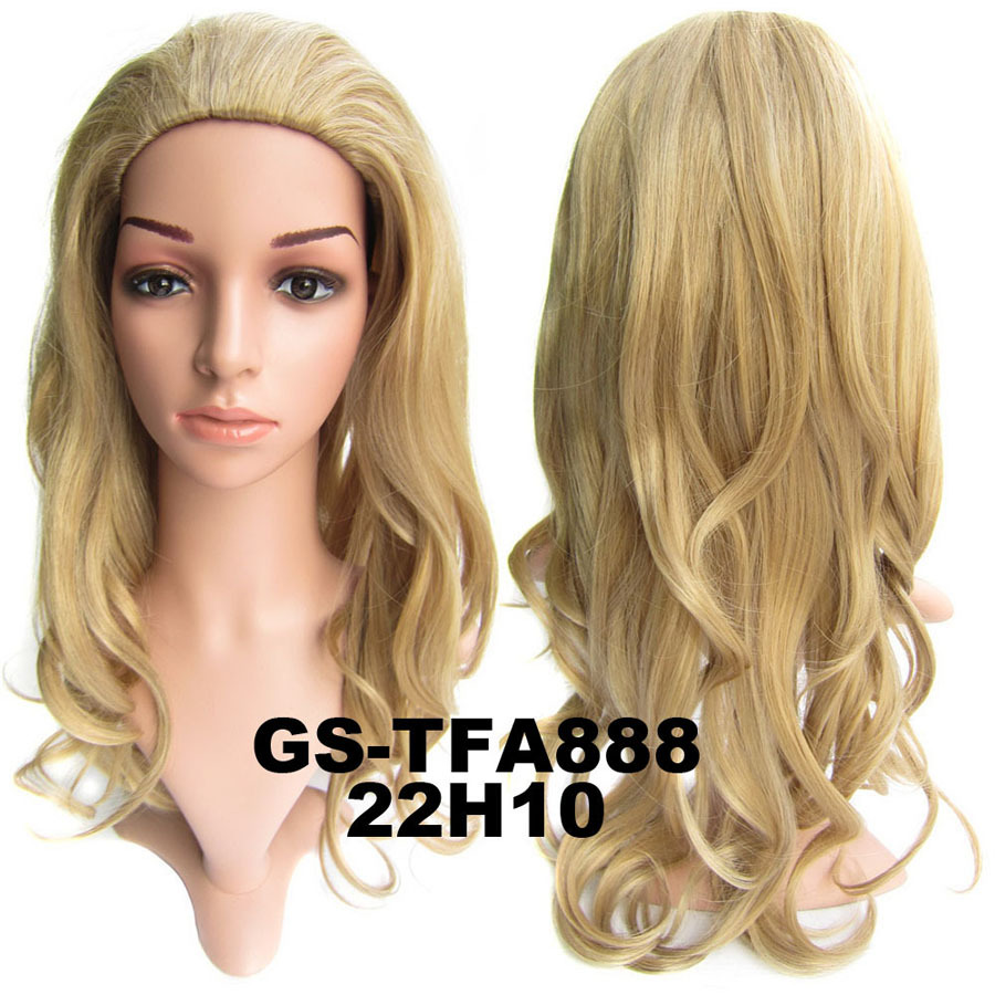 22 Inch Vibrant Curly and Long 3/4 Half Head Synthetic Hair Wigs With Comb22H10#