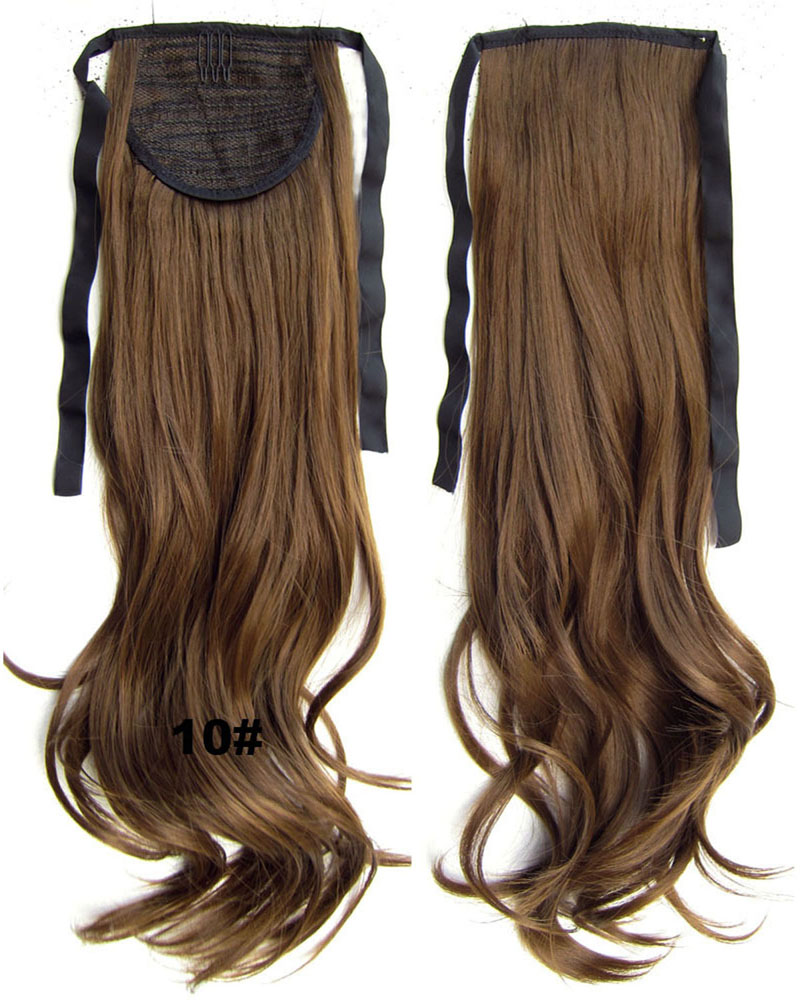 22 Inch Woman Cherished Curly and Long Lace/Ribbon Synthetic Hair Ponytail10#