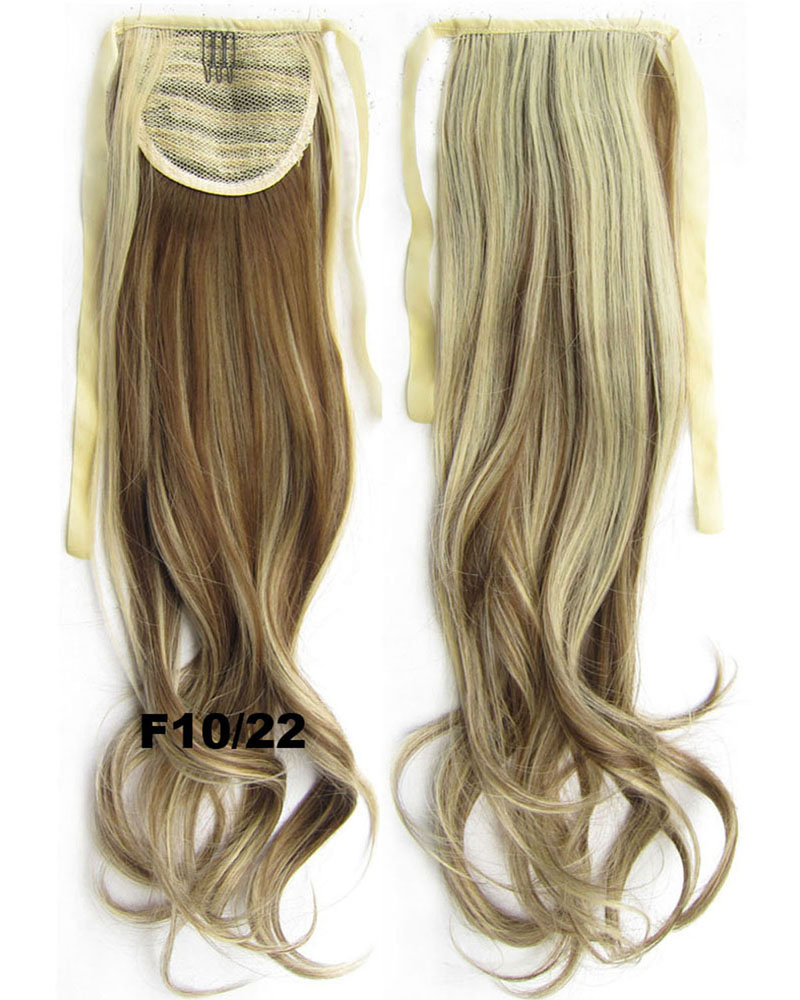 22 Inch Woman Curly and Long Lace/Ribbon Synthetic Hair Ponytail F10/22 Hot-sale Body Wave