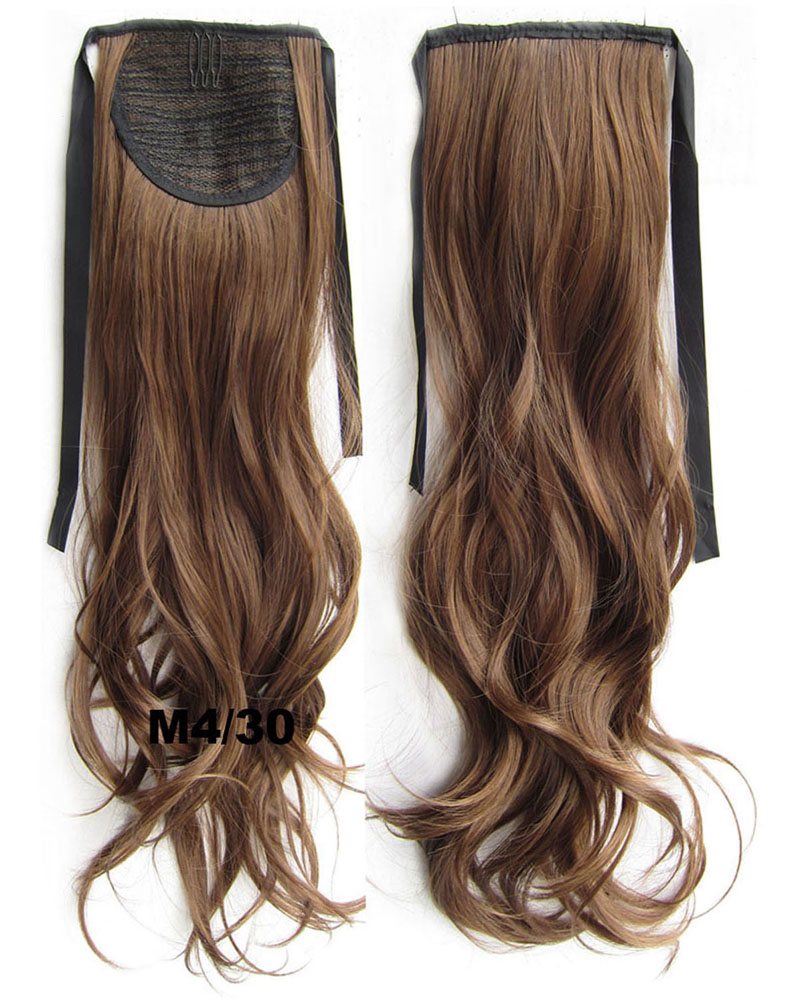 22 Inch Woman Delicate Curly and Long Lace/Ribbon Synthetic Hair Ponytail M4/30#