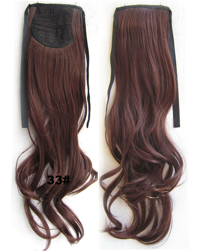 22 Inch Woman Pretty Curly and Long Lace/Ribbon Synthetic Hair Ponytail   33#