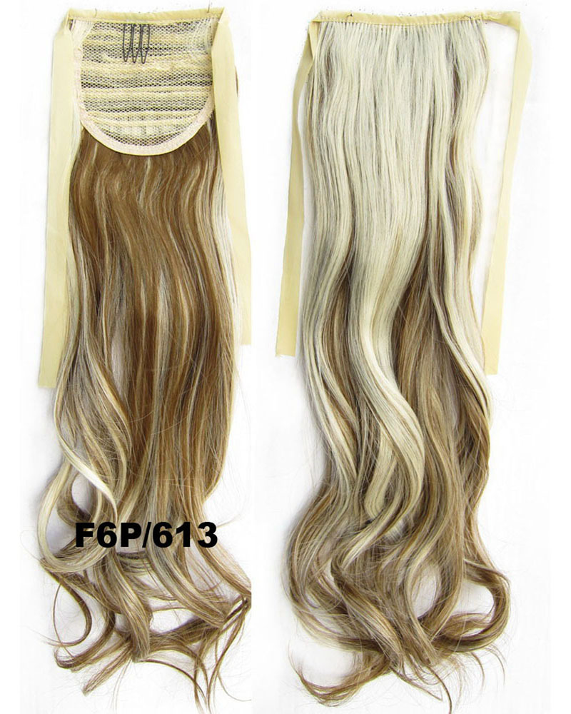 22 Inch Woman Superb Curly and Long Lace/Ribbon Synthetic Hair Ponytail F6P/613