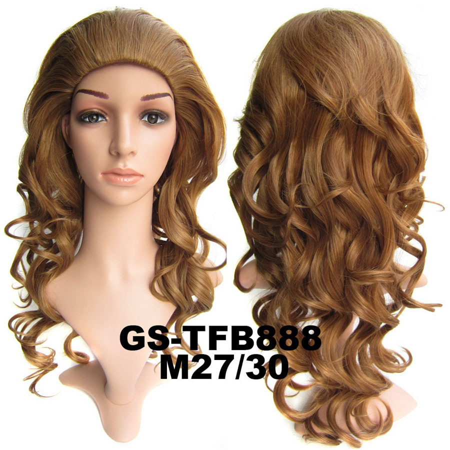 22 Inch Wonderful Curly and Long 3/4 Half Head Synthetic Hair Wigs With Comb M27/30