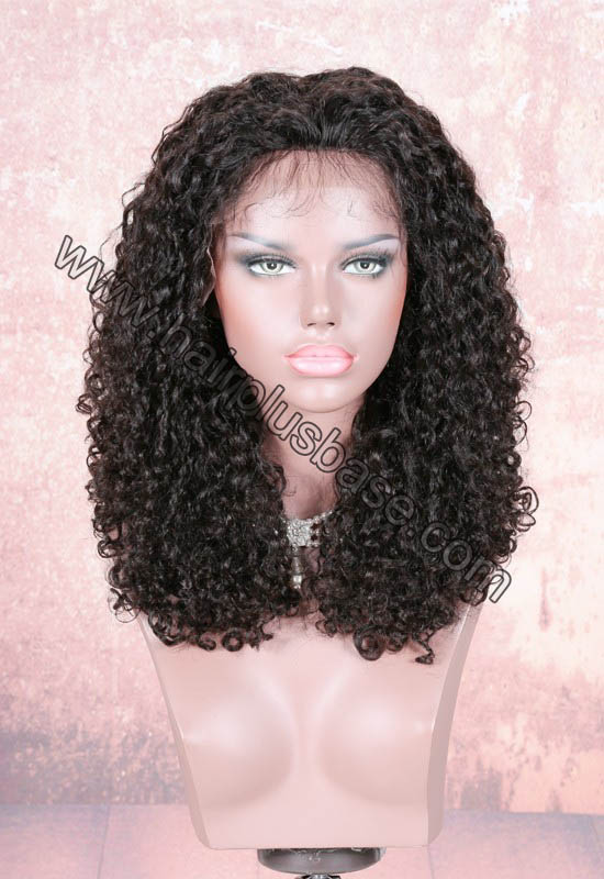 220% Density Double Drawn 4.5 Inch Deep Part Jennifer Curl Lace Front Wigs Indian Remy Hair