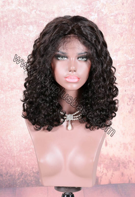 220% Density Double Drawn 4.5 Inch Deep Part Lace Front Wigs Indian Remy Hair Julianne Curl 0