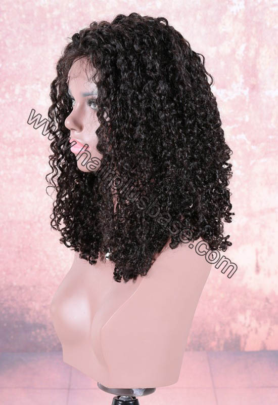220% Density Double Drawn 4.5 Inch Deep Part Vanessa Curly Lace Front Wigs Indian Remy Hair 2