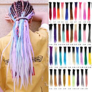 "24"" Ombre Dreadlocks Hair Extension 30pcs/PACK Synthetic Braiding Locs Full Head"