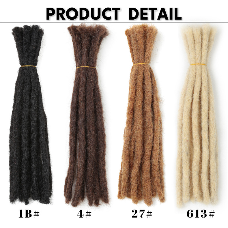 24 - 30 Inch Long Hair Dreadlocks - 100% Human Hair Loc Extensions 3