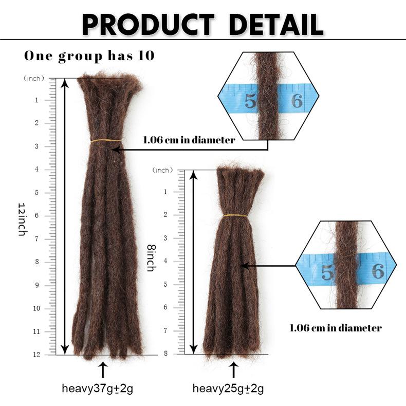 24 - 30 Inch Long Hair Dreadlocks - 100% Human Hair Loc Extensions 4