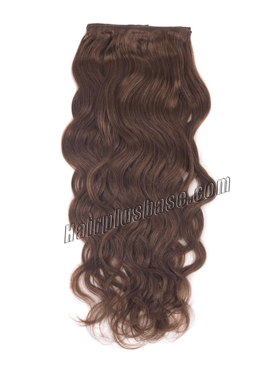 24 Inch 33 Rich Copper Red Magic Clip In Hair Extensions Body Wave