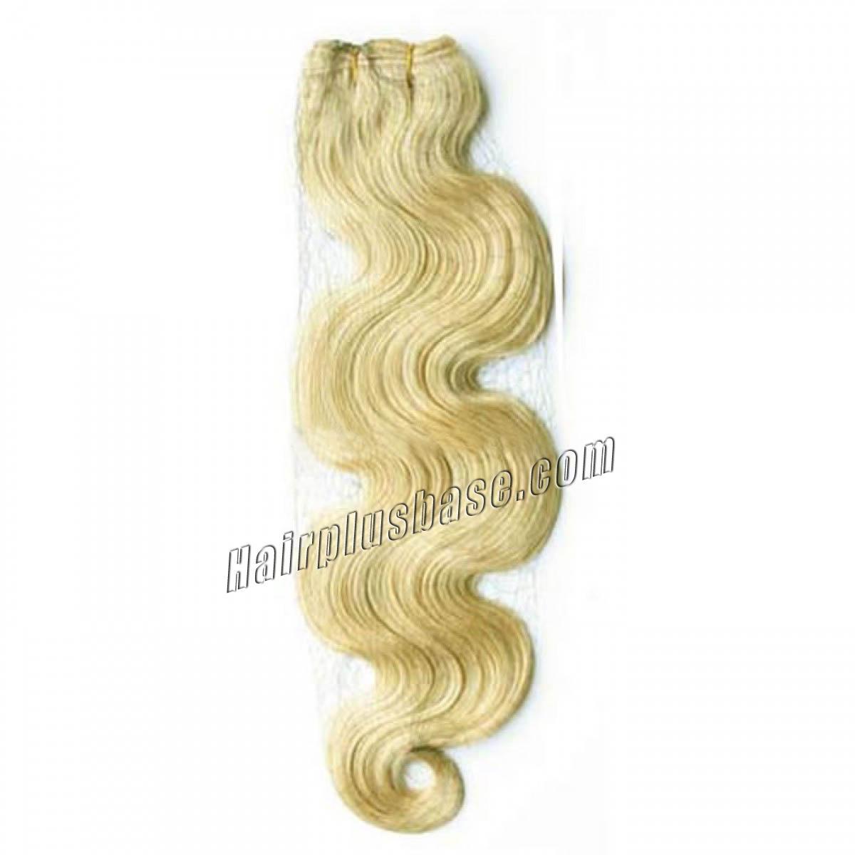 24 Inch #613 Bleach Blonde Body Wave Brazilian Virgin Hair Wefts no 1