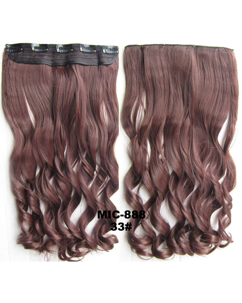 24 Inch Female Attractive and Long Straight One Piece 5 Clips Clip in Synthetic Hair Extension 33#100g
