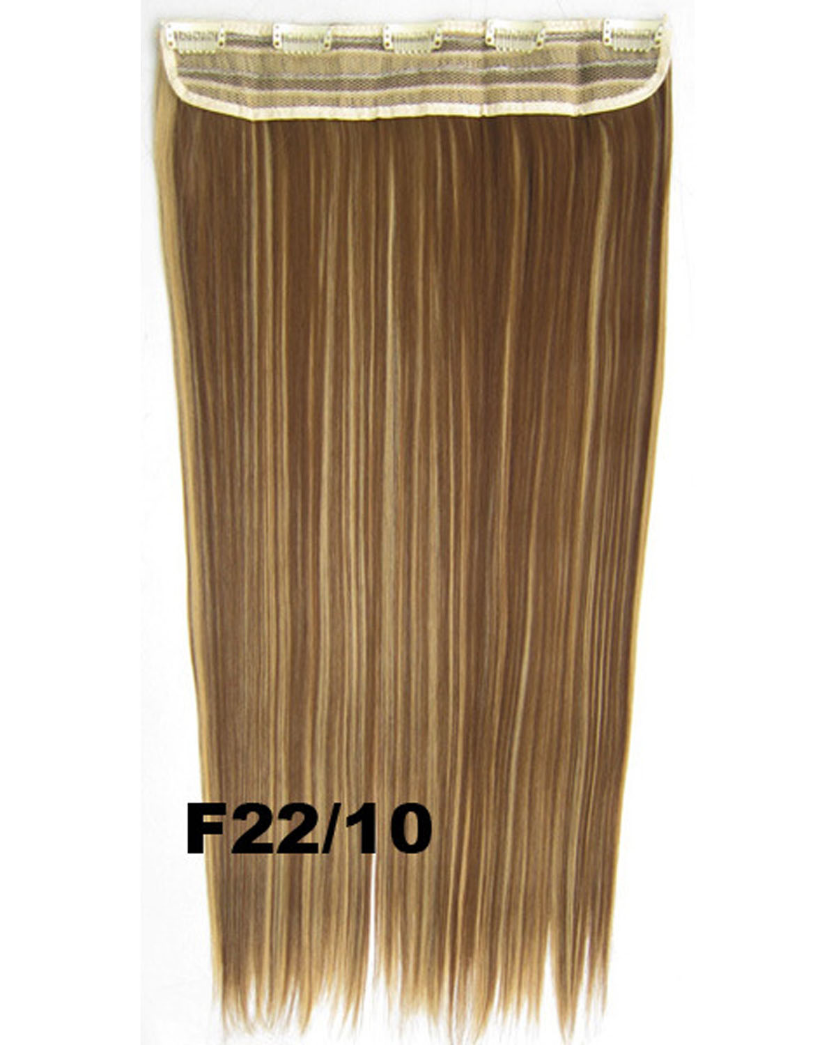 24 Inch Female High-class Long and Straight Hot-Sale One Piece 5 Clips Clip in Synthetic Hair Extension F22/10