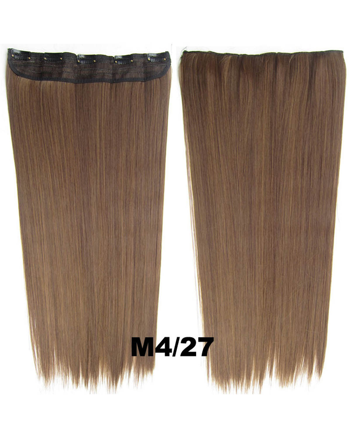 24 Inch Female Salable Long and Straight  One Piece 5 Clips Clip in Synthetic Hair Extension  M4/27 60cm 130g