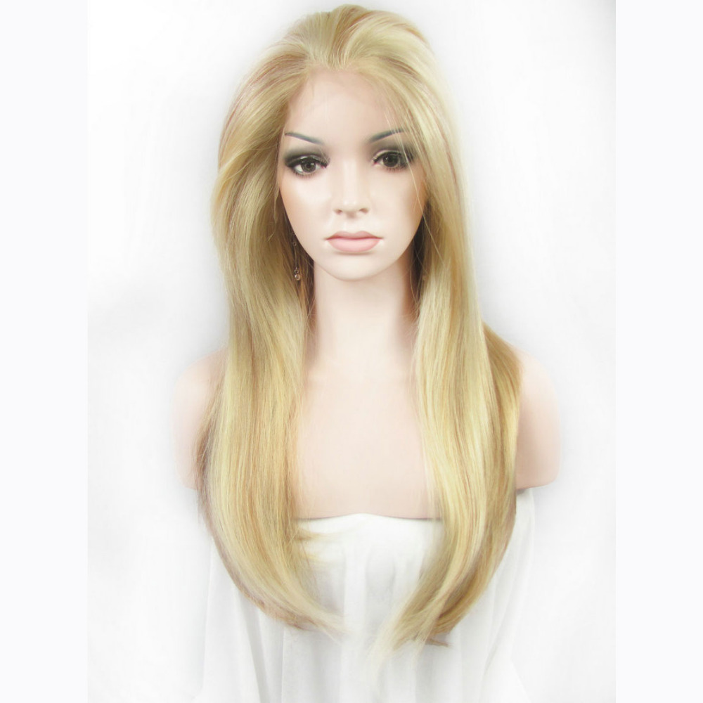 24 Inch Handmade Fashion Straight Synthetic Lace Front Wig