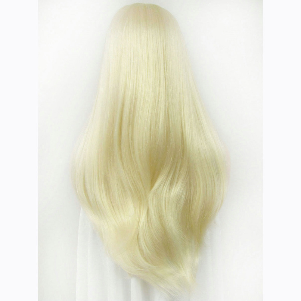 24 Inch Handmade Fashion Straight Synthetic Lace Front Wig 3