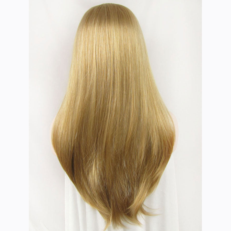 24 Inch Handmade Fashion Straight Synthetic Lace Front Wig 5