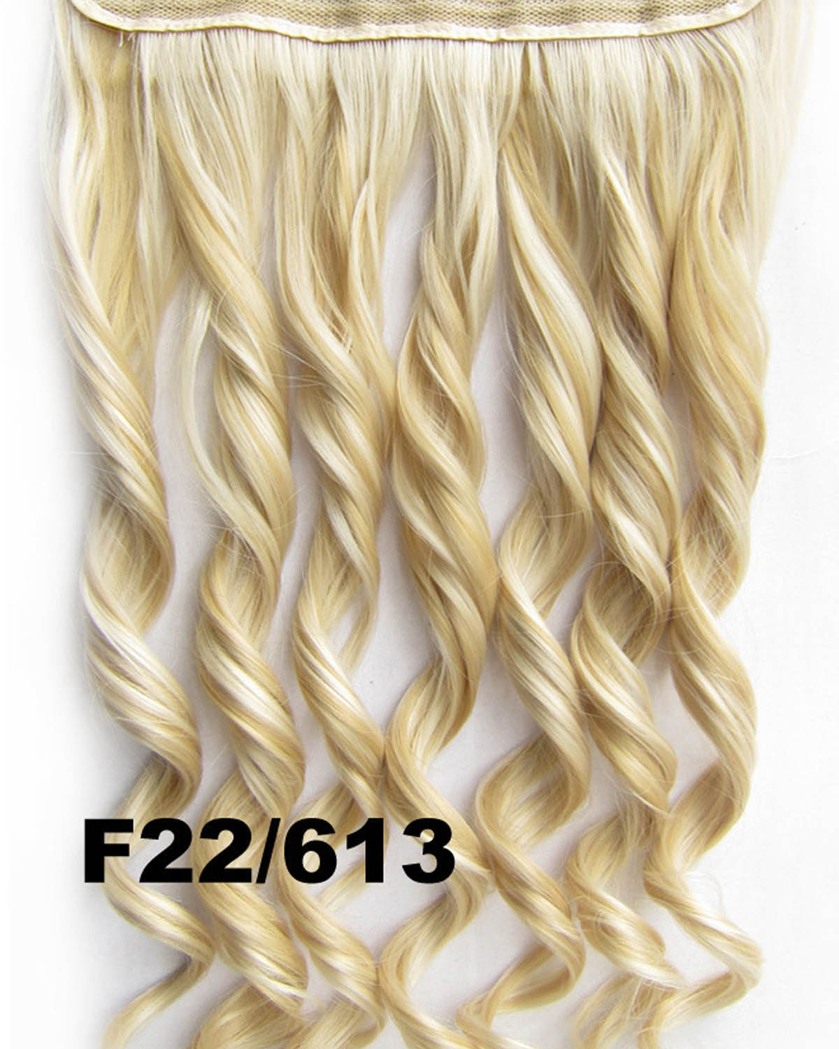 24 Inch Lady Neat and Tidy Body Wave Curly Long One Piece 5 Clips Clip in Synthetic Hair Extension F22/613