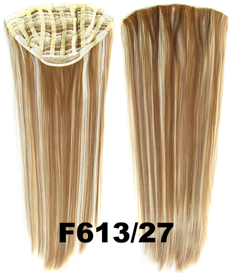 24 Inch Lady Straight and Long Graceful  One Piece 7 Clips Clip in Synthetic Hair Extension F613/27