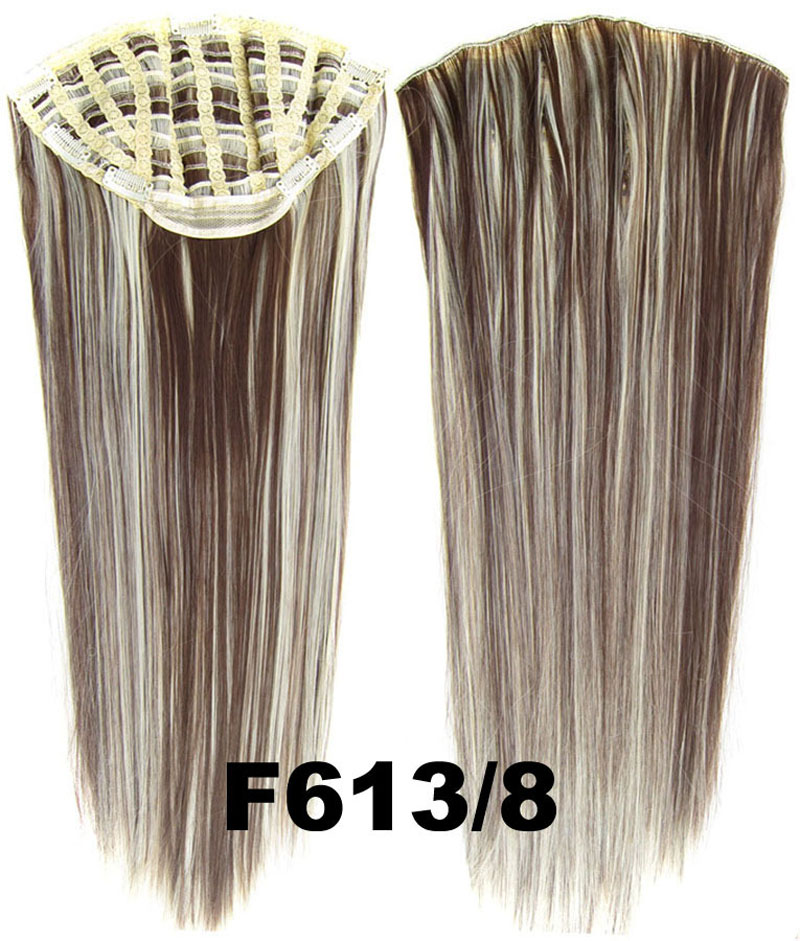 24 Inch Lady Straight and Long Splendid One Piece 7 Clips Clip in Synthetic Hair Extension F613/8