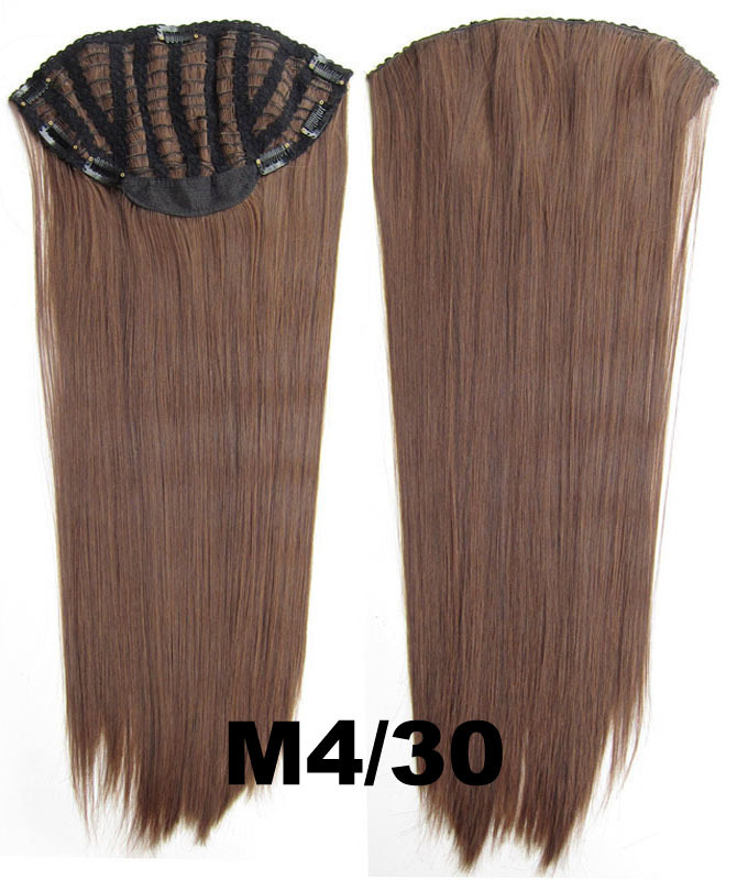 24 Inch Lady Straight and Long Trendy One Piece 7 Clips Clip in Synthetic Hair ExtensionM4/30#