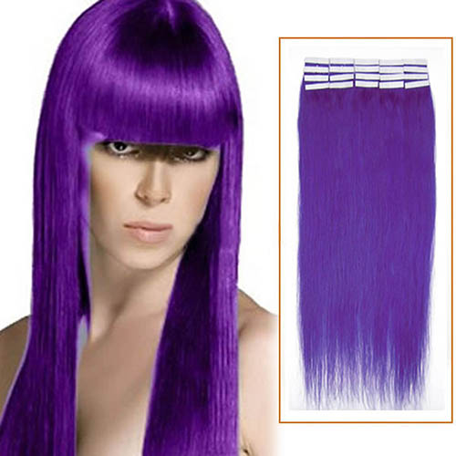 24 Inch Lila Tape In Human Hair Extensions 20pcs