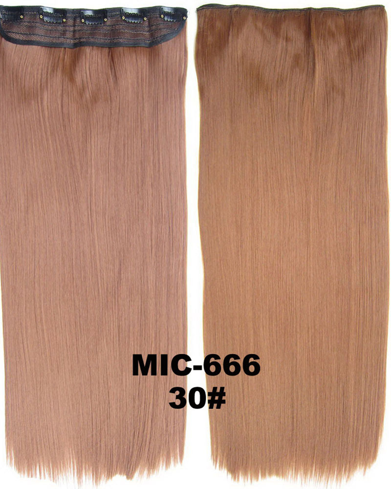 24 inch Neat and Tidy Straight Long One Piece 5 Clips Clip in Synthetic Hair Extension 30# 100g