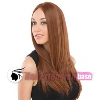 14e7540a7 24 Inch Straight Long Lace Front Wigs #28 Light Auburn no 2