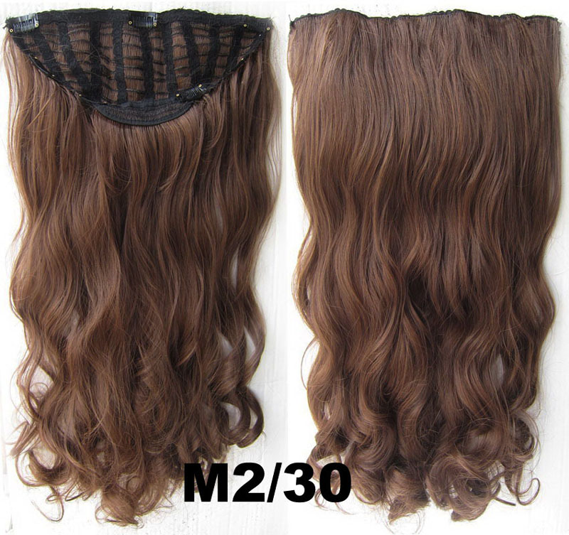 24 Inch Women Curly and Long Magnificent One Piece 7 Clips Clip in Synthetic Hair ExtensionM2/30