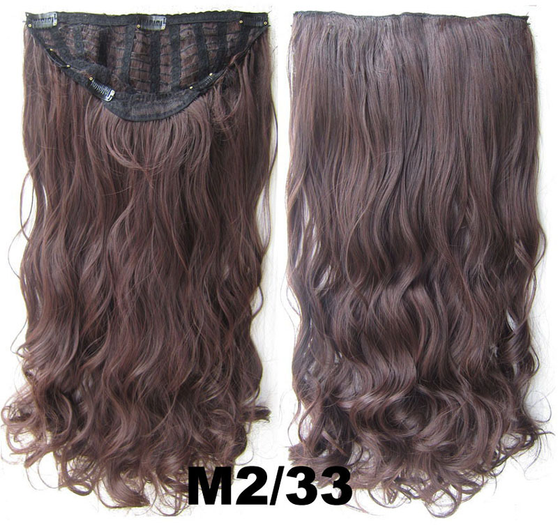 24 Inch Women Curly and Long Sophisticated One Piece 7 Clips Clip in Synthetic Hair ExtensionM2/33