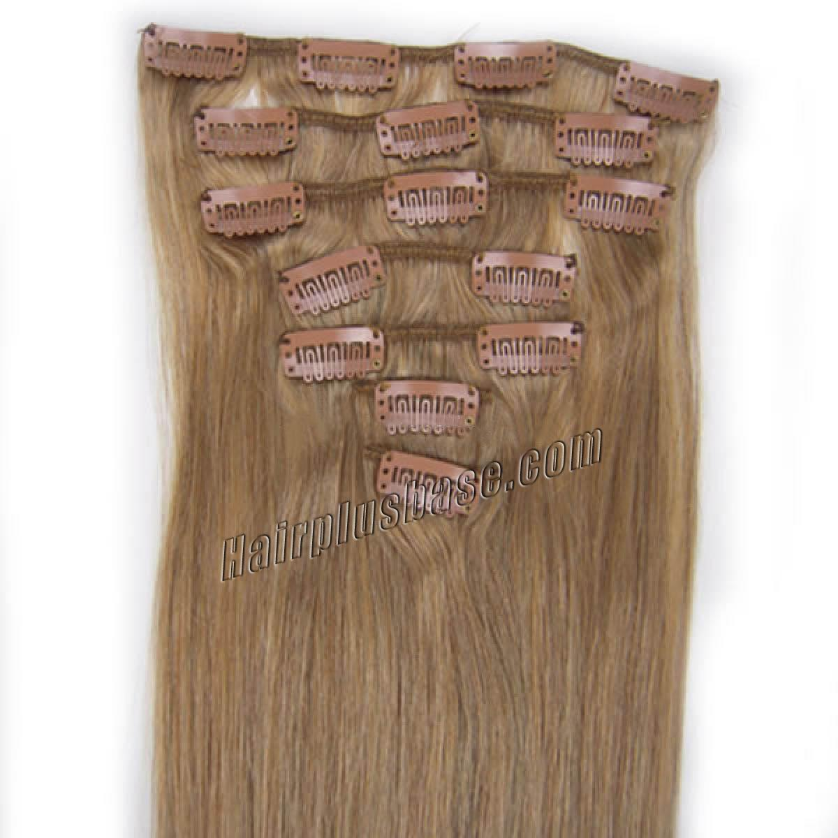 26 Inch 16 Golden Blonde Clip In Human Hair Extensions 11pcs