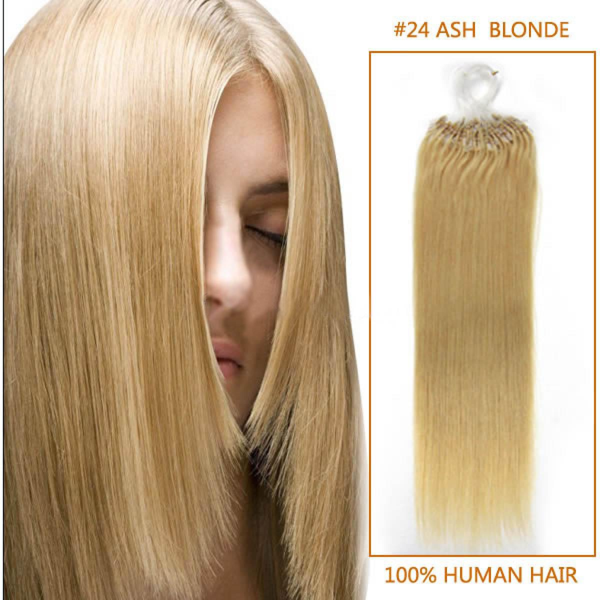 Inch 24 ash blonde micro loop human hair extensions 100s 26 inch 24 ash blonde micro loop human hair extensions 100s solutioingenieria Choice Image