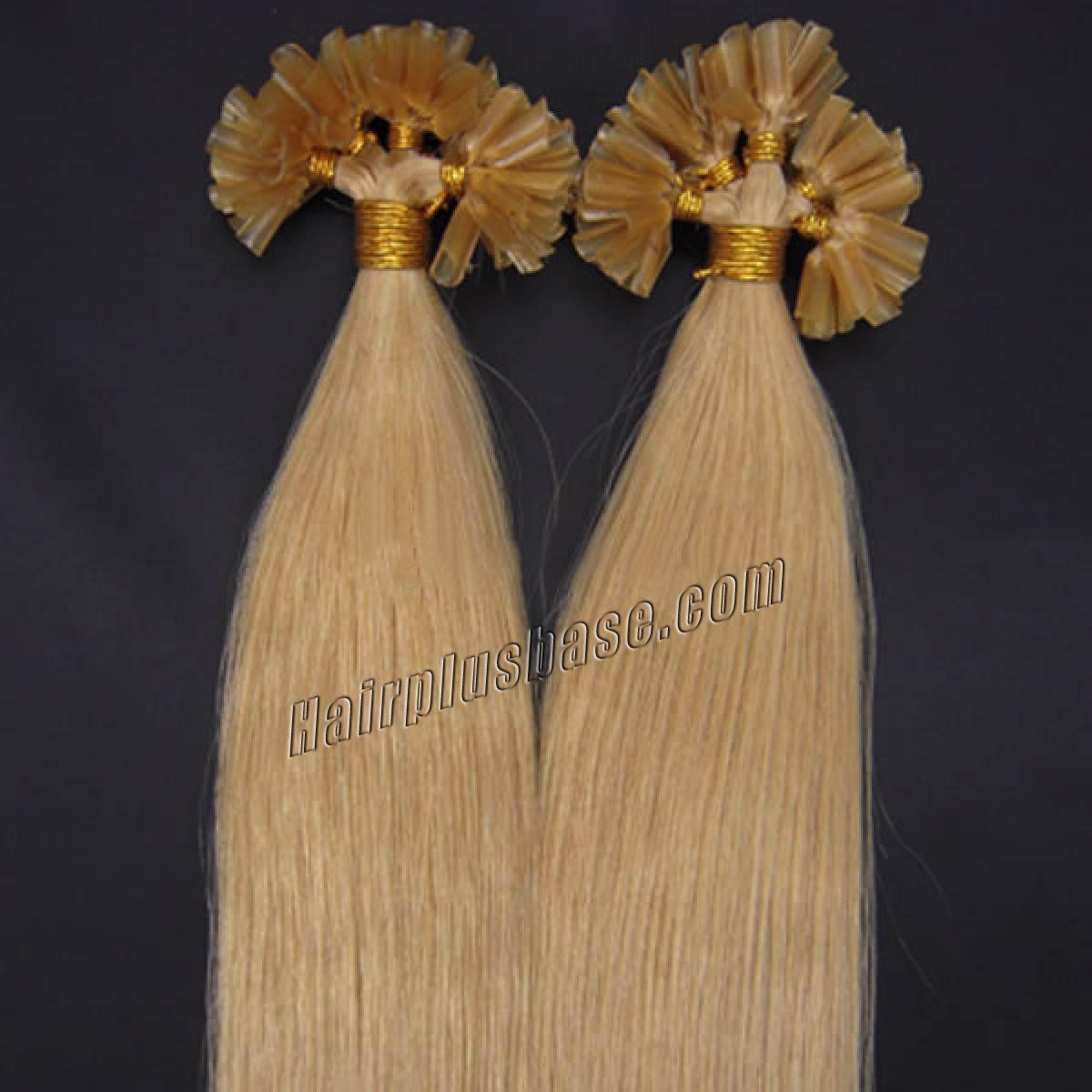 26 Inch 24 Ash Blonde Nail Tip Human Hair Extensions 100s