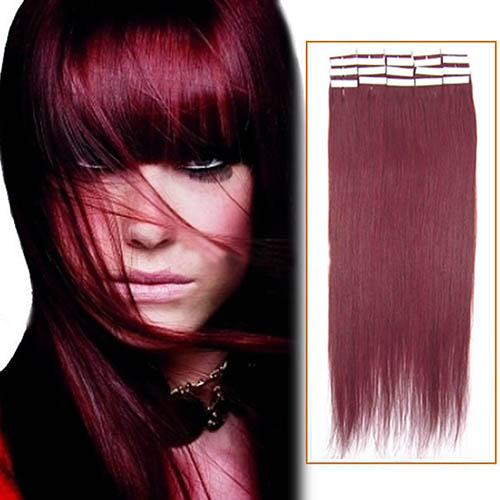 26 Inch Bug Tape In Human Hair Extensions 20pcs