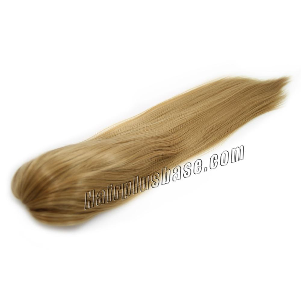 26 Inch Claw Clip Human Hair Ponytail Straight Sunny #27 Strawberry Blonde no 2