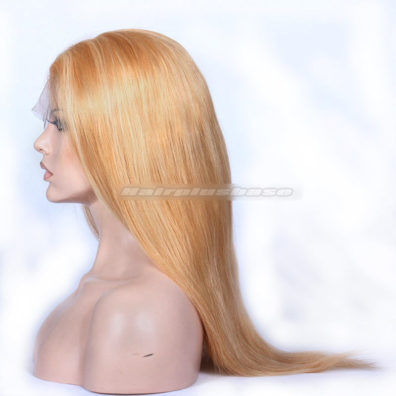 Blonde Color 27613 Chinese Virgin Hair Natural Straight Full Lace