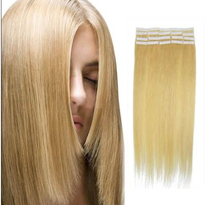 28 Inch #24 Ash Blonde Tape In Human Hair Extensions 20pcs