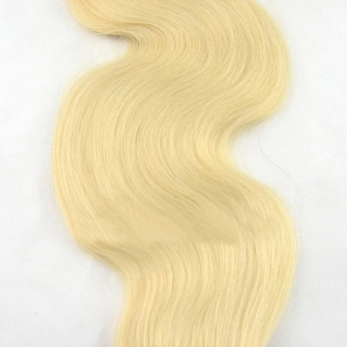 34 Inch #613 Bleach Blonde Tape In Hair Extensions Elegant Body Wave 20 Pcs details pic 2