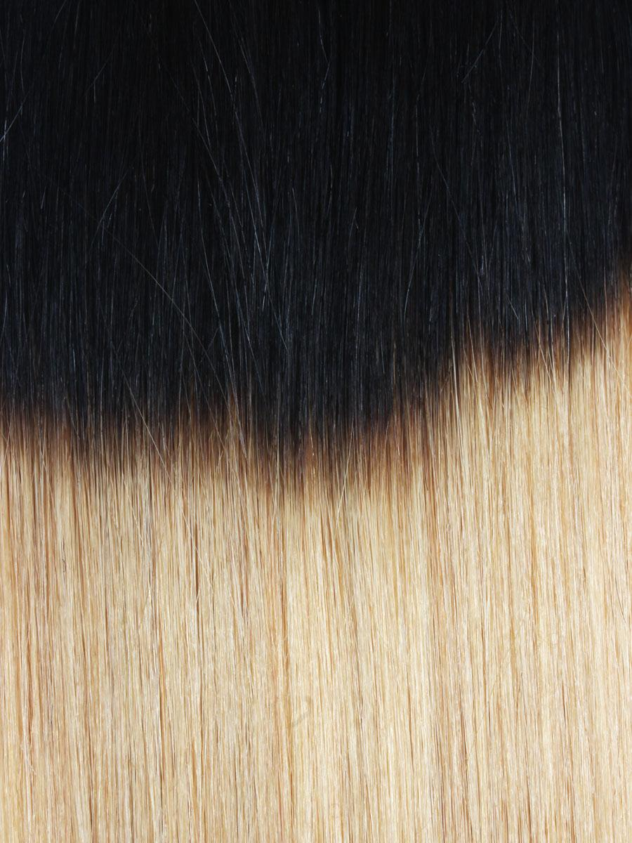 28 Inch Harmonious Ombre Clip in Indian Remy Hair Extensions Two Tone Straight 9 Pieces no 3