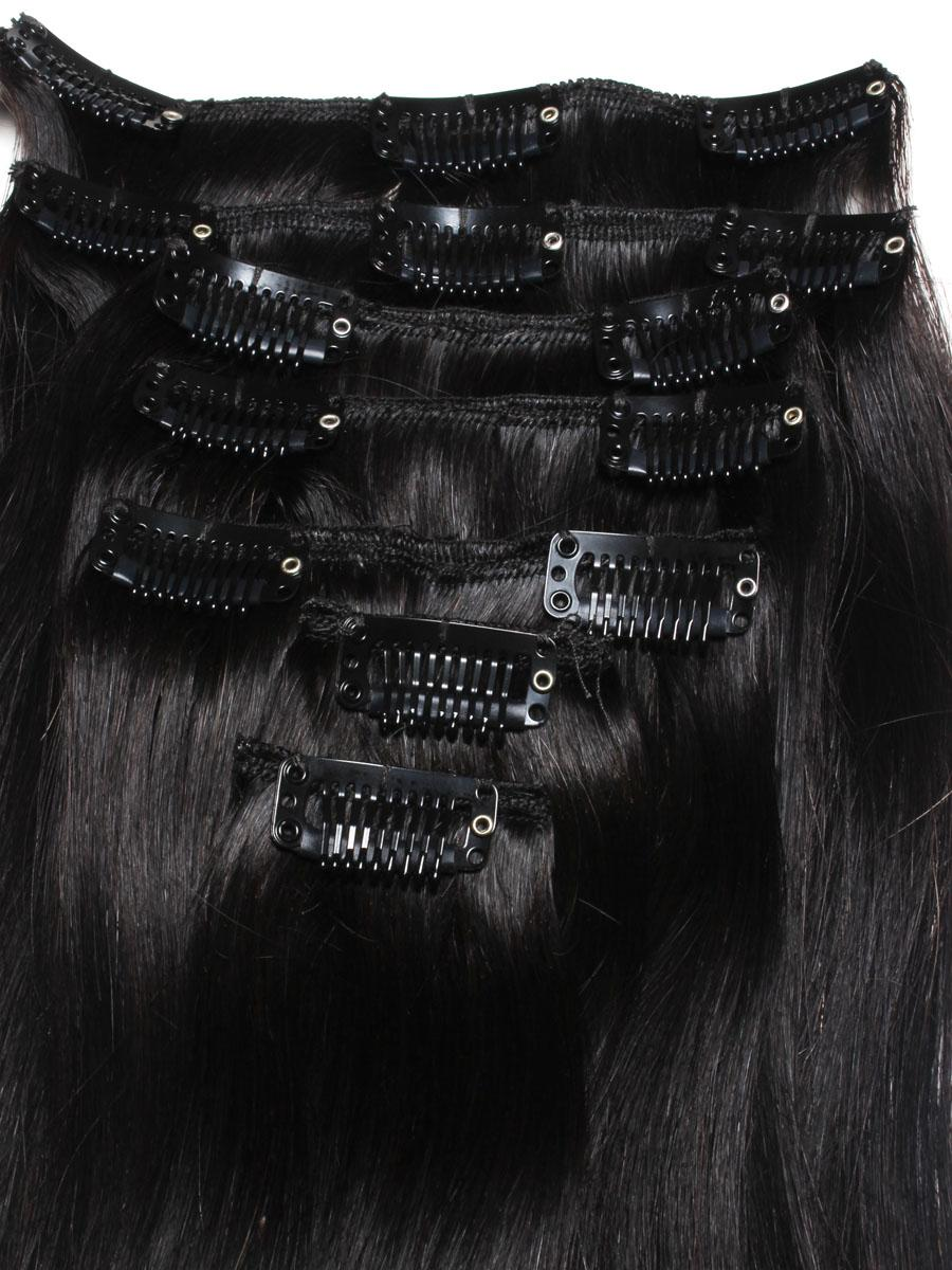 28 Inch Harmonious Ombre Clip in Indian Remy Hair Extensions Two Tone Straight 9 Pieces no 5