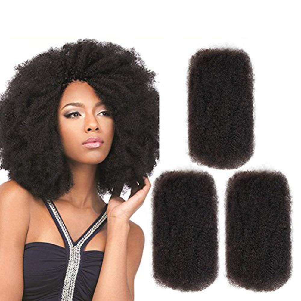 3 Bundles Afro Kinkys Bulk Human Hair - Afro Bulk Braiding Hair for Dreadlocks - Loc Braiding Hair