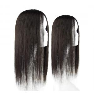 """3"""" x 5"""" Silk Base Human Hair Crown Toppers Clip in, Top Hairpieces for Women with White and Thinning Hair"""