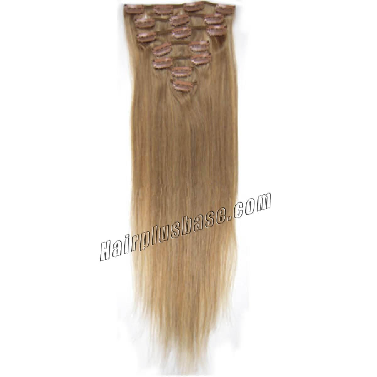 30 Inch 16 Golden Blonde Clip In Remy Human Hair Extensions 12pcs