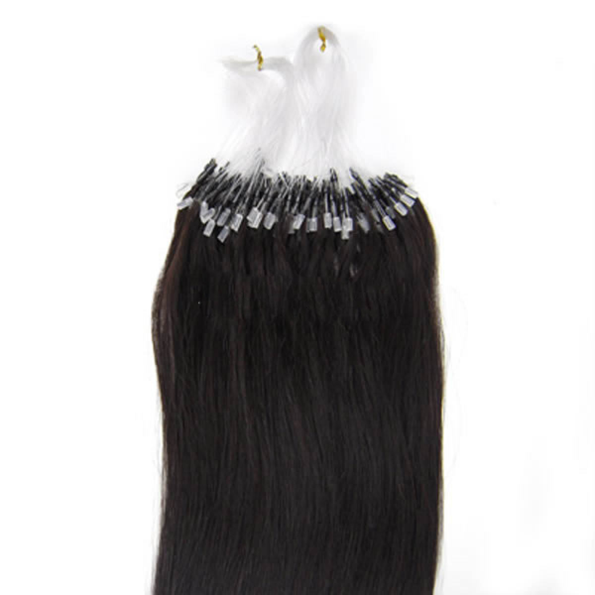 30 Inch 1b Natural Black Micro Loop Human Hair Extensions 100s 110g