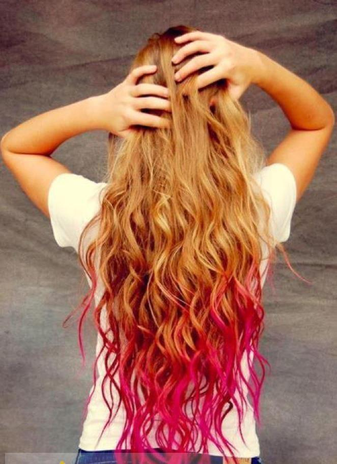 30 Inches Wavy Blonde And Red To Purple Human Hair Ombre Wigs