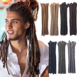 """30cm/12"""" Reggae Dreadlocks for Men Handmade Crochet Braiding Locs Hair Extension"""